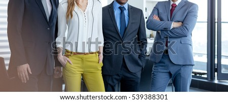 Portrait of confident multi-ethnic business people in office #539388301