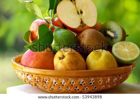 Basketful of various fruits #53943898