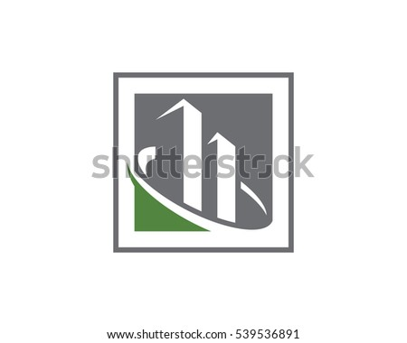 Business Finance professional logo template vector icon Royalty-Free Stock Photo #539536891