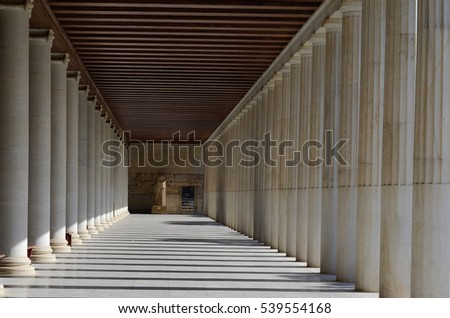 Athens , Ancient Agora Stoa of Attalos, Greece #539554168