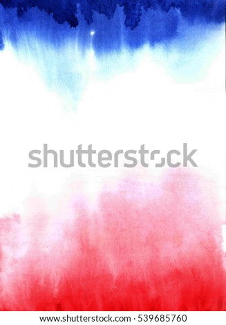 Abstract red-blue watercolor background