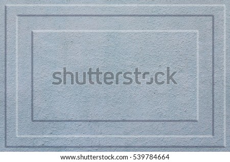 Texture concrete wall with relief inserts. Preparation for graphs, tables or stand decoration. Plain grey smooth surface texture with volumetric grooves with copy space #539784664