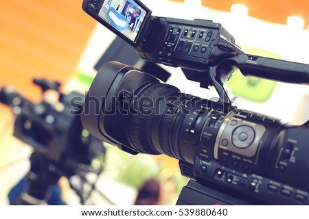 Video camera while filming #539880640