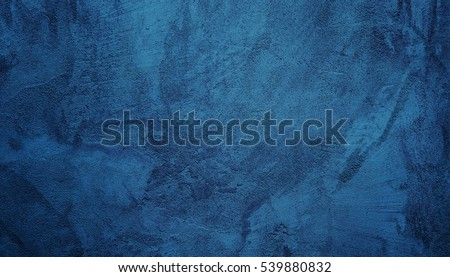 Beautiful Abstract Grunge Decorative Navy Blue Dark Stucco Wall Background. Art Rough Stylized Texture Banner With Space For Text Royalty-Free Stock Photo #539880832