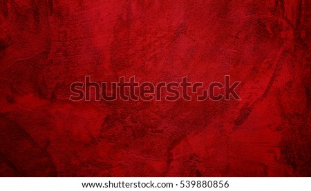 Beautiful Abstract Grunge Decorative Dark Red Stucco Wall Background. Valentines Christmas Design Layout. Art Rough Stylized Texture Banner With Copy Space. Royalty-Free Stock Photo #539880856
