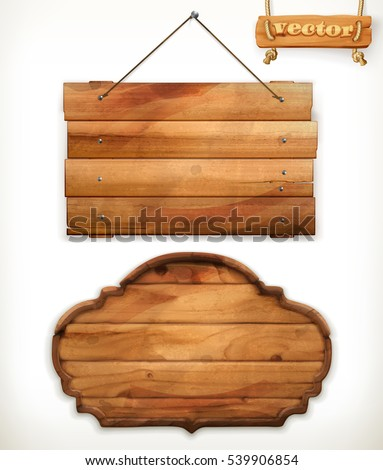 Wooden board, old wood, vector Royalty-Free Stock Photo #539906854