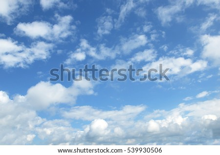 The vast blue sky and clouds sky #539930506