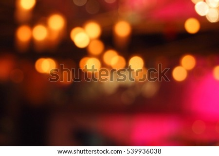 Abstract blurred light bokeh, defocused background with pink color