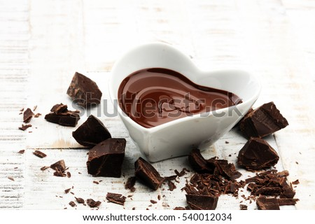 Melting chocolate / melted chocolate/ chocolate swirl/ stack/ chips and powder #540012034