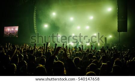 Novi Sad, Serbia - December 10th: Punk band Ritam Nereda performing on Koncert Godine 2016, in Novi Sad, Serbia #540147658