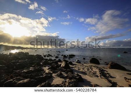 Beautiful sunrise at Burn Beach, Western Australia during summer 2016 #540228784