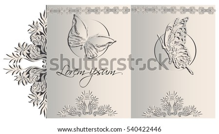 greeting card design. Poster, page, banner, brochure, template. Vector illustration. #540422446