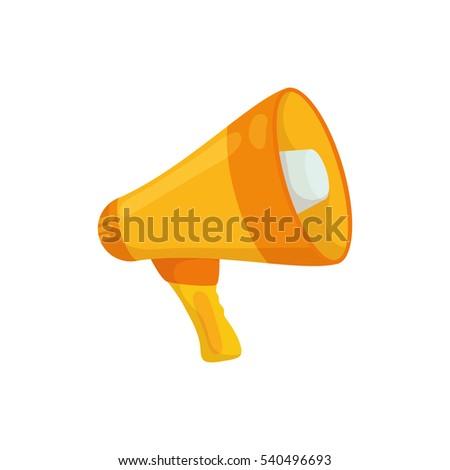 Bullhorn announce device icon vector illustration graphic design #540496693