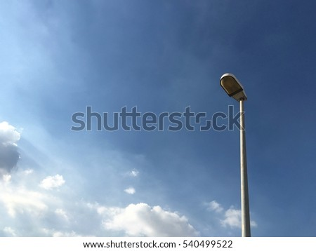 lamppost and sky #540499522