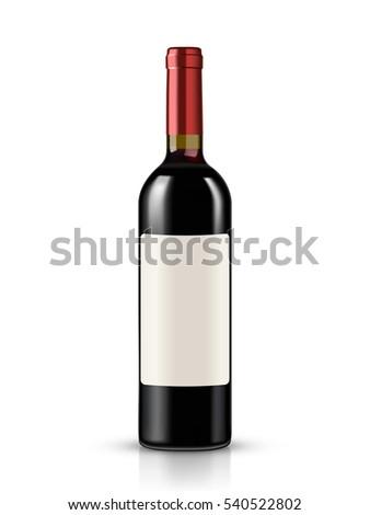 Wine bottle Isolated on white background #540522802