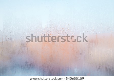 misted glass as the background