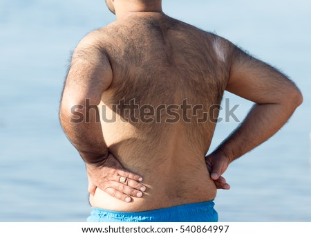 Hairy men back #540864997