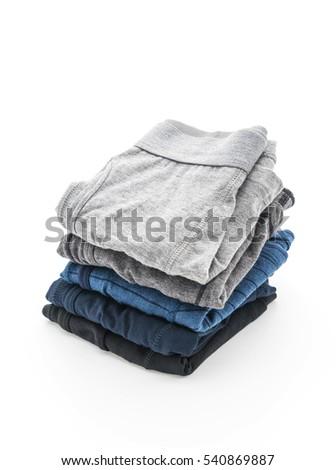 men underwear isolated on white background #540869887