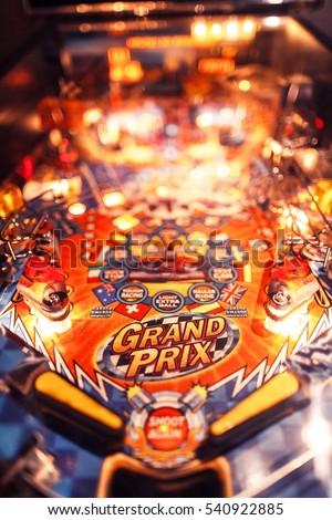 Pinball Arcade Machine Royalty-Free Stock Photo #540922885