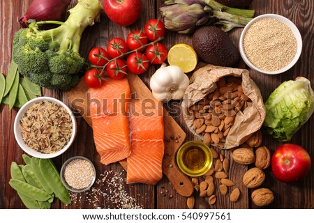 selection of healthy food #540997561