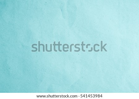 Organic light blue paper kraft background texture in soft white plain teal concept for pale letter book page pattern, turquoise matt for canvas black wall. Cyan pastel scrap theme. #541453984