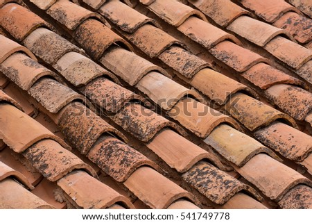 Photo Picture of Tiles on the Building Roof Texture #541749778