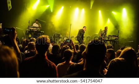 Zagreb, Croatia - November 8th: British indie band The Ramona Flowers performing at Tvornica Kulture on ovember 8th, 2016 in Zagreb, Croatia #541754047