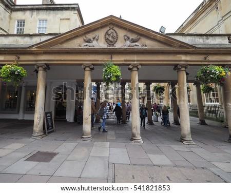 BATH, UK - CIRCA SEPTEMBER 2016: Tourists visiting the city of Bath #541821853