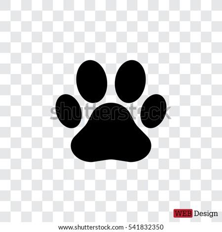 Paw Print icon. Vector Royalty-Free Stock Photo #541832350