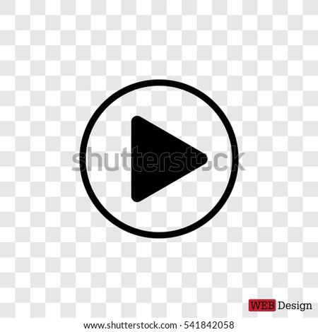 Play button web icon #541842058