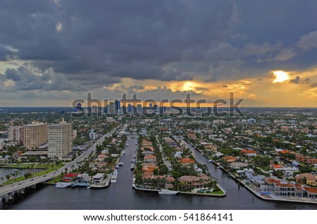 Sunset in Fort Lauderdale, Florida #541864141