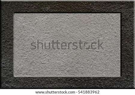 Texture of rough concrete surface with bulky gray highlighted portions which can be seen on exposure to light. Preparation for the background processing of slides, spreadsheets, or info-graphic #541883962