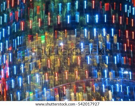 Decorative holiday lights in Central Park, Jakarta. #542017927