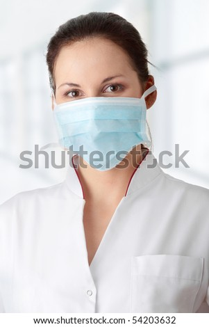 Young nurse in mask #54203632