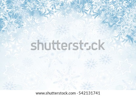 Abstract  background with snowflakes - flakes of snow in the sky
