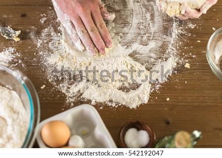 Preparing dough for home made pasta. #542192047