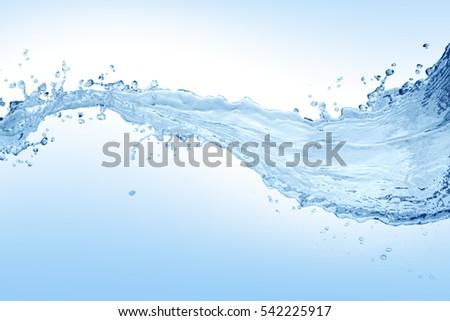 Water splash,water splash isolated on white background,water #542225917