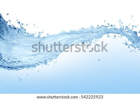 Water splash,water splash isolated on white background,water #542225923