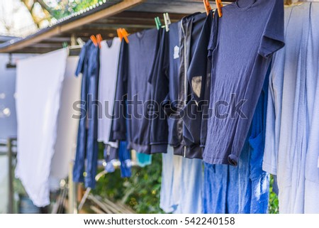 laundry drying outside #542240158