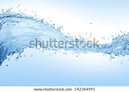 Water splash,water splash isolated on white background,water   #542364991
