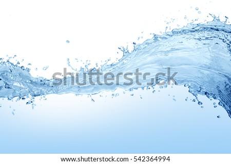 Water splash,water splash isolated on white background,water   #542364994