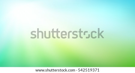 Abstract green blurred gradient background with sunlight. Nature backdrop. Vector illustration. Ecology concept for your graphic design, banner or poster Royalty-Free Stock Photo #542519371