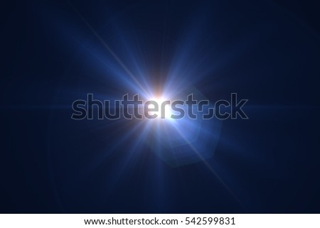 Abstract sun burst with digital lens flare background #542599831