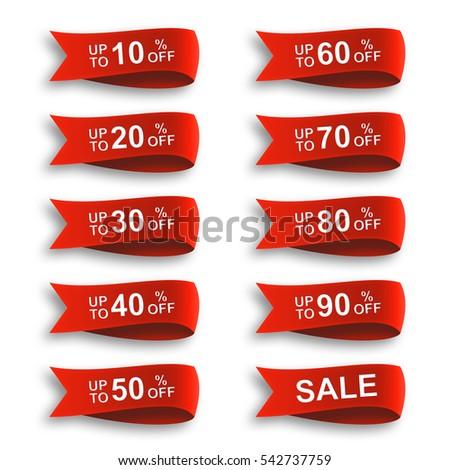 ribbon discount sale label set #542737759