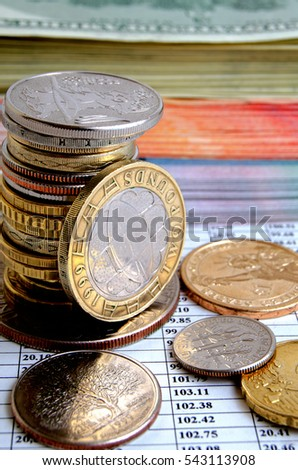Rate the British pound on international currency exchanges. #543113908