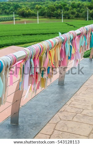 Ribbon for lucky on stainless bar, Thailand. #543128113