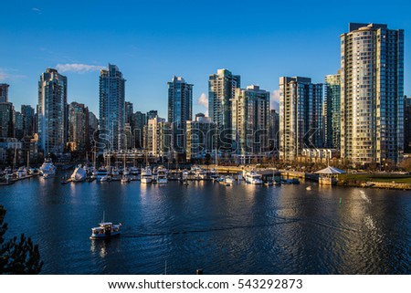 Beautiful view of Vancouver, British Columbia, Canada #543292873