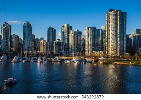 Beautiful view of Vancouver, British Columbia, Canada #543292879