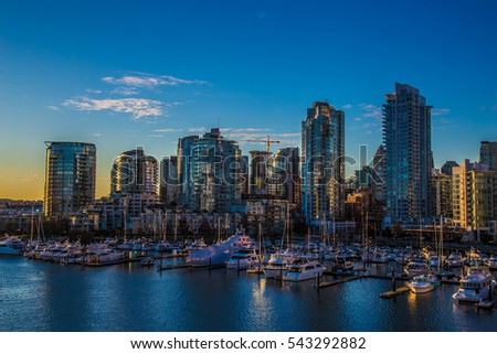 Beautiful view of Vancouver, British Columbia, Canada #543292882