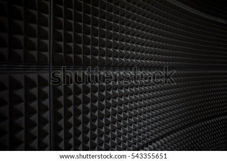 Close up of studio sound acoustical foam Background